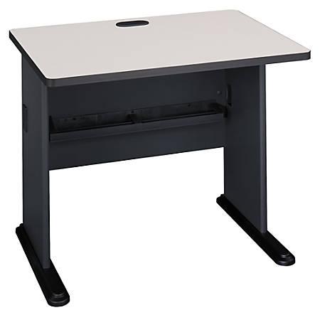 "Bush Business Furniture Office Advantage Desk 36""W, Slate/White Spectrum, Premium Installation"