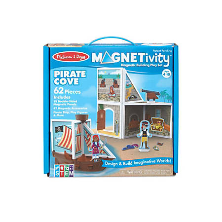 Melissa Doug Pretend Play Educational Toys Magnetivity Pirate Cove Building Set Item 738104