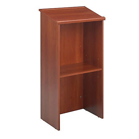 Safco Stand-Up Lectern, Cherry