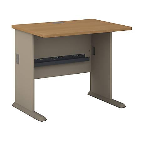 """Bush Business Furniture Office Advantage Desk 36""""W, Light Oak/Sage, Standard Delivery"""