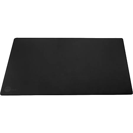 "SIIG Large Artificial Leather Smooth Desk Mat Protector - Black - Rectangle - 22"" Width x 0.1"" Depth - Artificial Leather - Black"