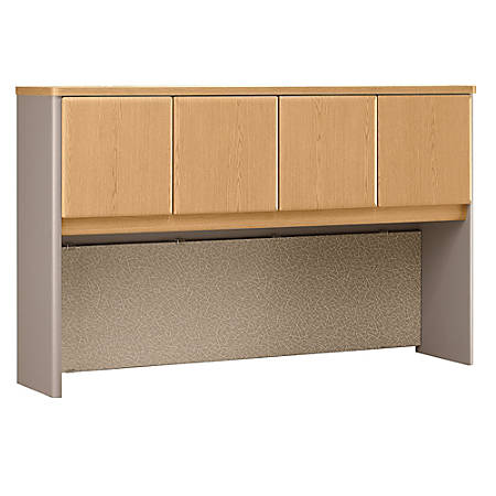 "Bush Business Furniture Office Advantage Hutch 60""W, Light Oak/Sage, Standard Delivery"