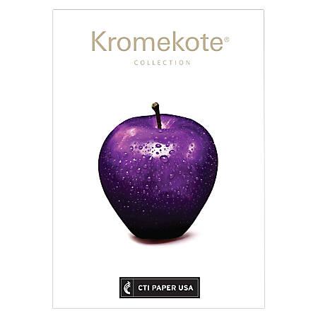 "Futura Gloss-Text Digital Printing Paper, Kromekote 12-Point C1S Cover, Letter Size (8 1/2"" x 11""), 96 (U.S.) Brightness, 100 Lb, 200 Sheets Per Ream, Case Of 8 Reams"