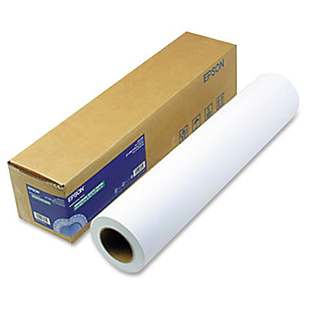 "Epson Photo Paper - 24"" x 100 ft - 0% Recycled Content - Matte - 104 Brightness - 1 / Roll - White"