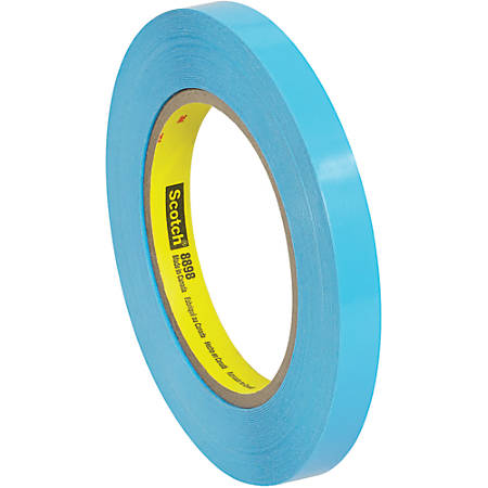 """Scotch® 8898 Tensilized Poly Strapping Tape, 3"""" Core, 0.5"""" x 60 Yd., Blue, Case Of 12"""