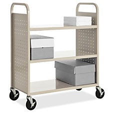 Lorell Flat Shelf Book Cart 3