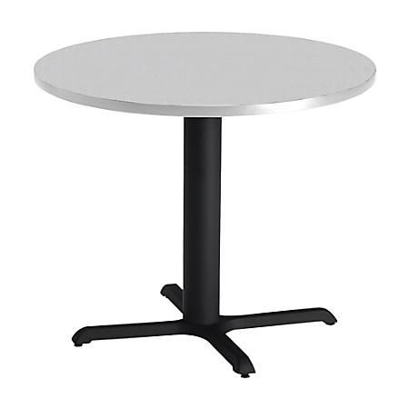 "Mayline® Bistro X-Table Base, 28""H, Black/Gray"