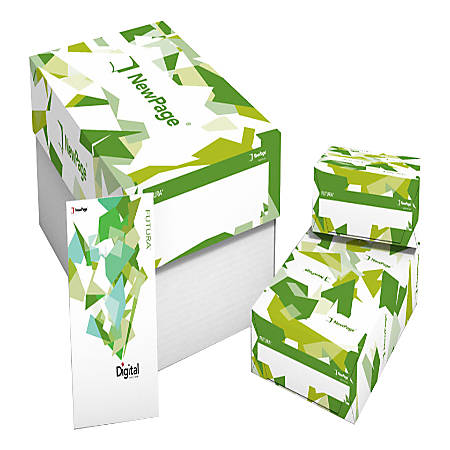 "Futura Digital Dull-Text Printing Paper, Letter Size (8 1/2"" x 11""), 96 (U.S.) Brightness, 100 Lb, 500 Sheets Per Ream, Case Of 6 Reams"