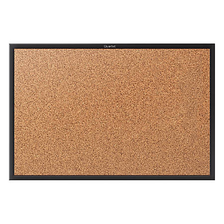 "Quartet® Classic Cork Bulletin Board, 60"" x 36"", Black Aluminum Frame"