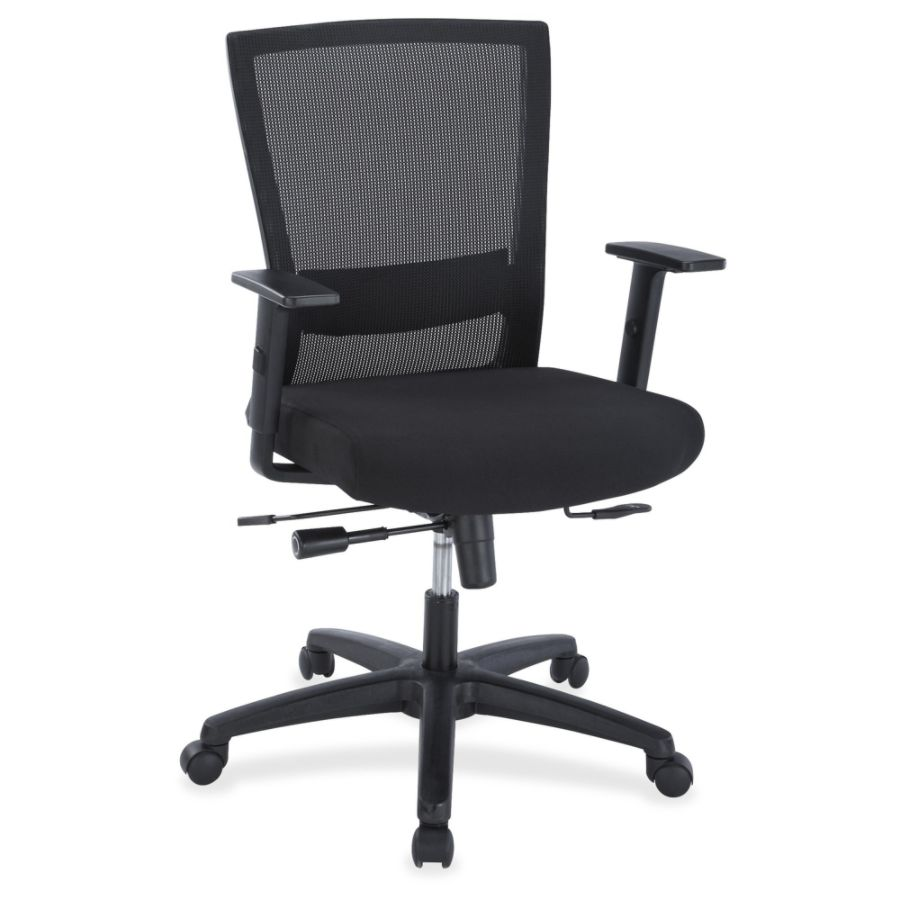 Lorell Comfort Mesh Mid Back Fabric Seat Chair Seat Slide Black By Office  Depot U0026 OfficeMax