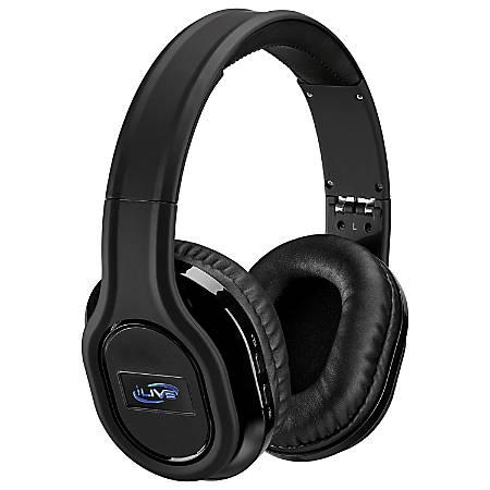 iLive Platinum Active Noise-Canceling On-Ear Headphones, Black, IAHP87B