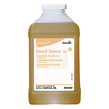 Diversey Good Sense Liquid Odor Counteractant, Apple Scent, 84.5 Oz, Case Of 2 Bottles