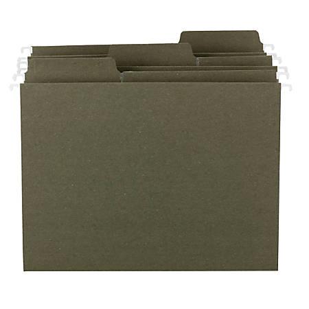 Smead® FasTab® 1/3-Tab Cut Hanging Folders, Letter Size, 100% Recycled, Standard Green, Box Of 20 Folders