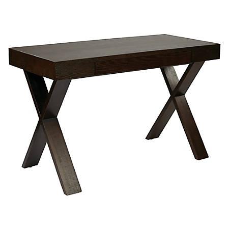 Ave Six Lane Wood Desk, Espresso