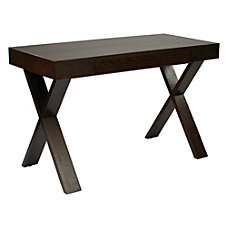 Ave Six Lane Wood Desk Espresso