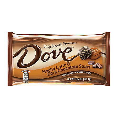 DOVE Promises Mocha Latte And Dark Chocolate Swirl Candy Bags, 7.94 Oz, Pack Of 3