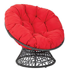 Office Star Papasan Chairs RedBlack Set