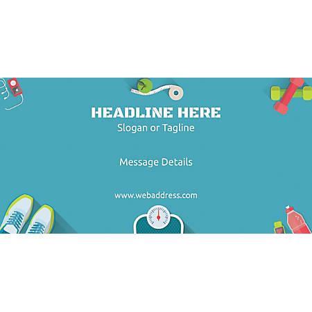 Custom Horizontal Banner, Fitness Graphic