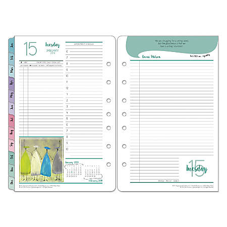 """FranklinCovey® Brown Trout Organizer Refill, 5 1/2"""" x 8 1/2"""", Her Point Of View, January to December 2019"""