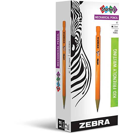 Zebra Pen Cadoozles Starters Mechanical Pencils, 2.0 mm, Orange Barrel, Pack Of 12