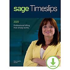 Sage Timeslips 2020 Time and Billing