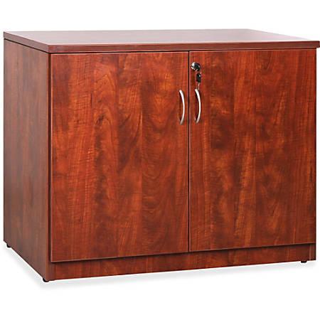 """Lorell® Essentials Series Storage Cabinet, 36""""W, Cherry"""