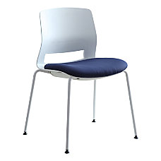 Lorell Arctic Series Stacking Chairs WhiteBlue