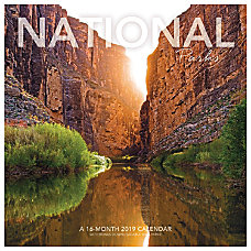 Landmark National Parks Monthly Wall Calendar