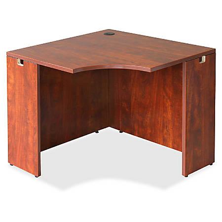 """Lorell® Essentials Series Corner Desk, 36""""W, Cherry"""