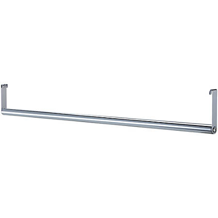 "Lorell® Industrial Wire Shelving Garment Hanger Bar, 48""W, Chrome"