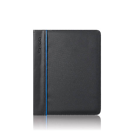 Solo® Tech Booklet Case For Apple® iPad®, Polyester, Black/Blue