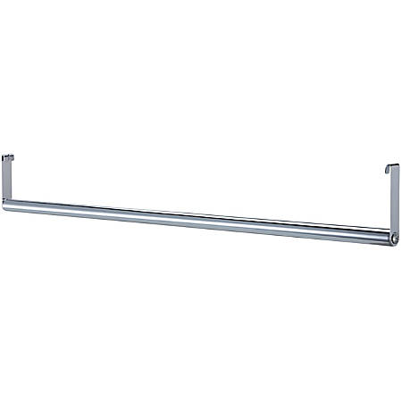 "Lorell® Industrial Wire Shelving Garment Hanger Bar, 36""W, Chrome"