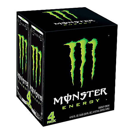 Monster Energy Drinks, Original, 16 Oz, Case Of 24 Cans