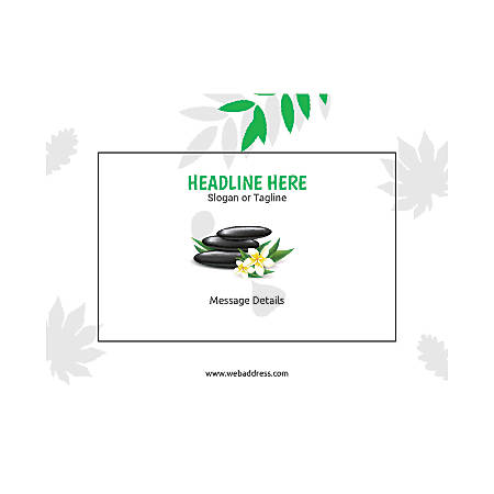 Custom Flyer, Horizontal, Spa Stone Green