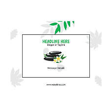 Custom Flyer Horizontal Spa Stone Green