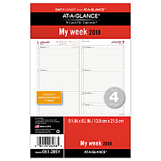 AT A GLANCE Day Runner Planner