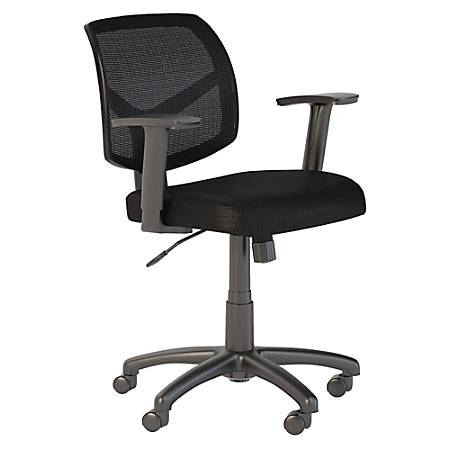 Bush Business Furniture Petite Mesh Back Office Chair, Black, Premium Installation
