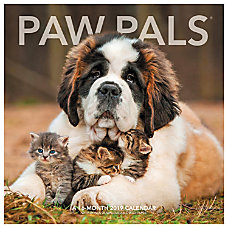 Landmark Paw Pals Monthly Wall Calendar
