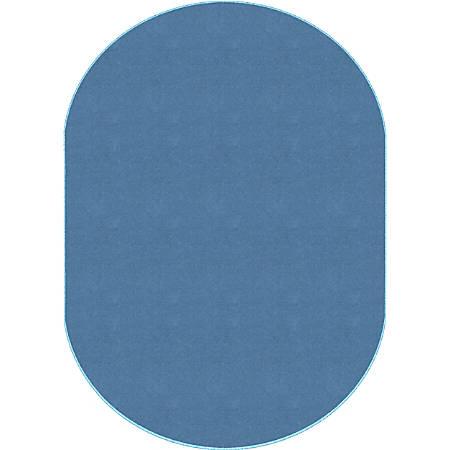"Flagship Carpets Americolors Rug, Oval, 7' 6"" x 12', Blue Bird"