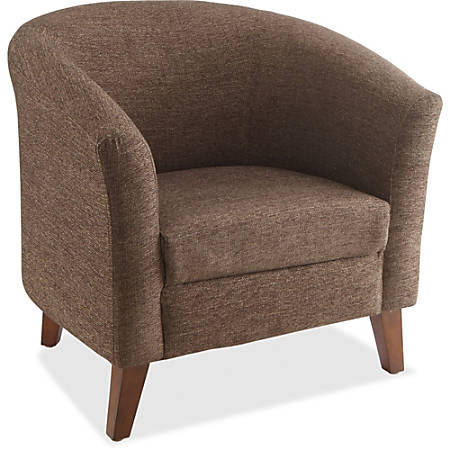 Lorell® Barrel Club Armchair, Fabric, Brown