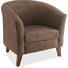 Lorell Barrel Club Armchair Fabric Brown
