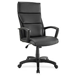 Lorell European High Back Bonded Leather