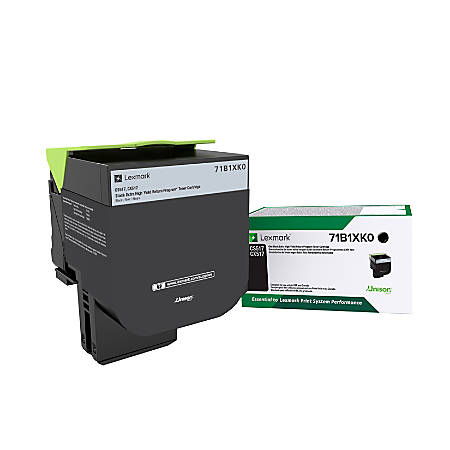 Lexmark™ 71B1XK0 Extra-High-Yield Return Program Black Toner Cartridge