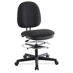 Lorell Contoured Back Swivel Stool Black