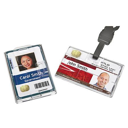 "SKILCRAFT® Smart Card Holder, 2 1/8"" x 3 1/2"", Clear, Box Of 250 (AbilityOne 8455-01-645-2732)"