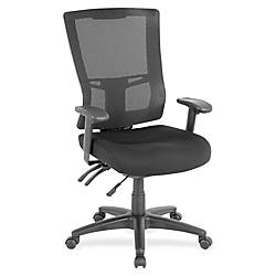 Lorell Multifunction Mesh High Back Chair