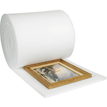 "Office Depot® Brand Soft Foam, Roll, 1""H x 36""W x 36'D, White"