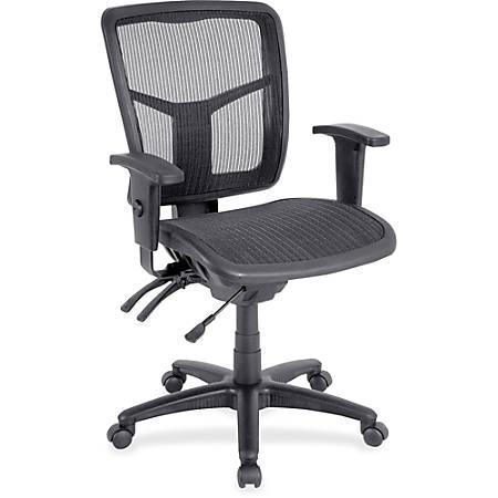 Lorell® Ergonomic Mesh Mid-Back Chair, Black