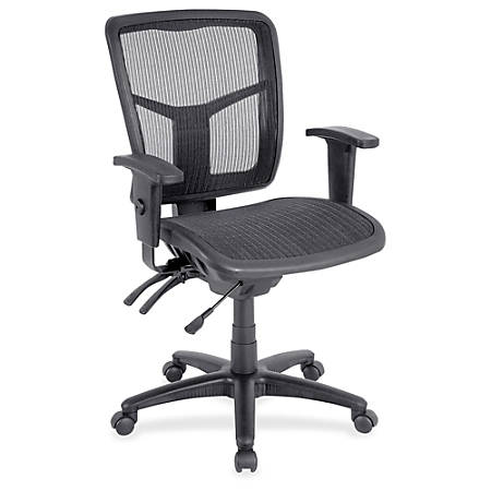 lorell ergonomic mesh mid back chair black by office depot officemax