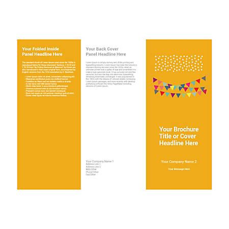 Customizable Trifold Brochure, Black Bunting